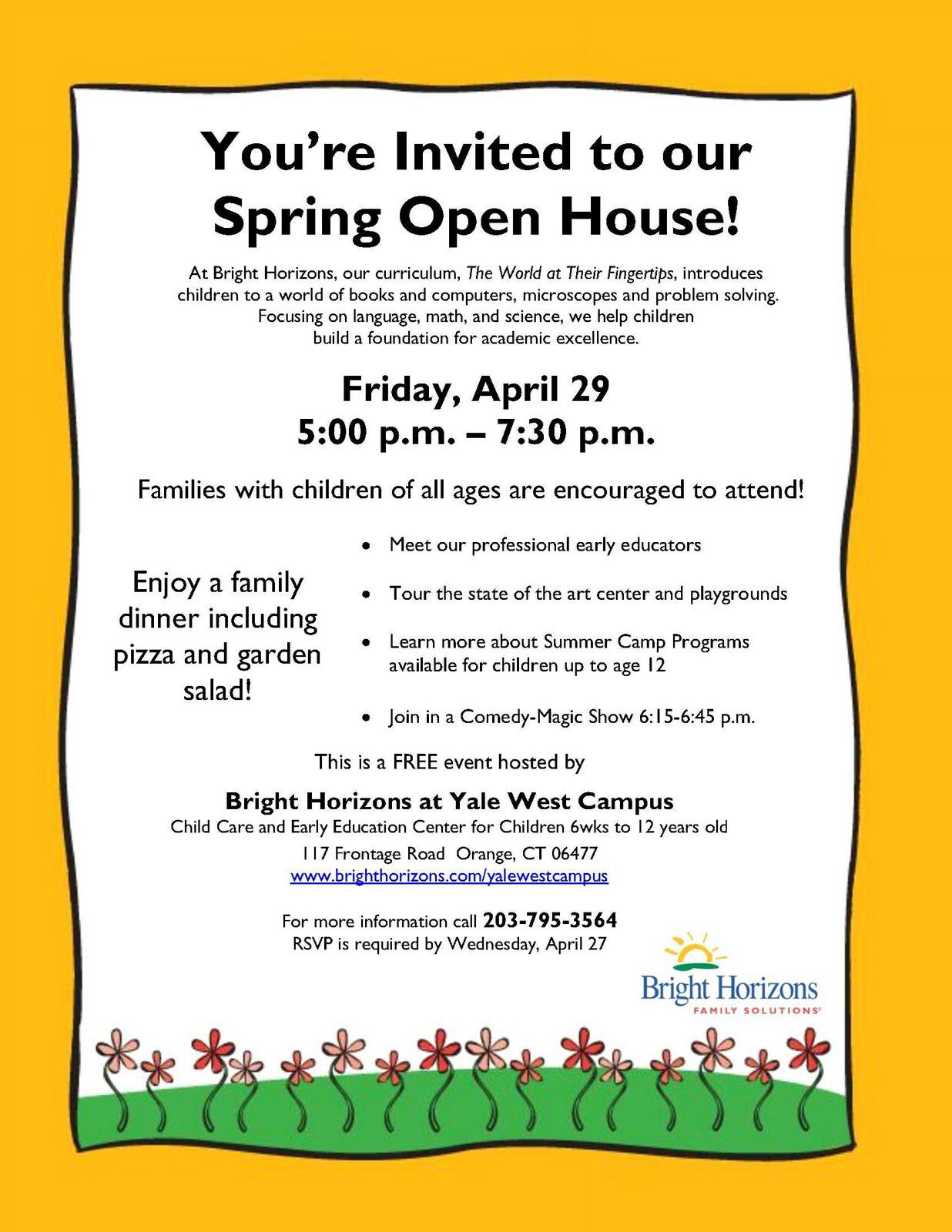 School Open House Flyer Template Free