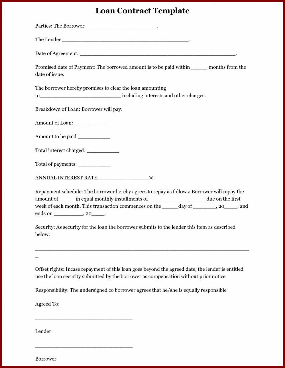 Shareholder Loan Agreement Template
