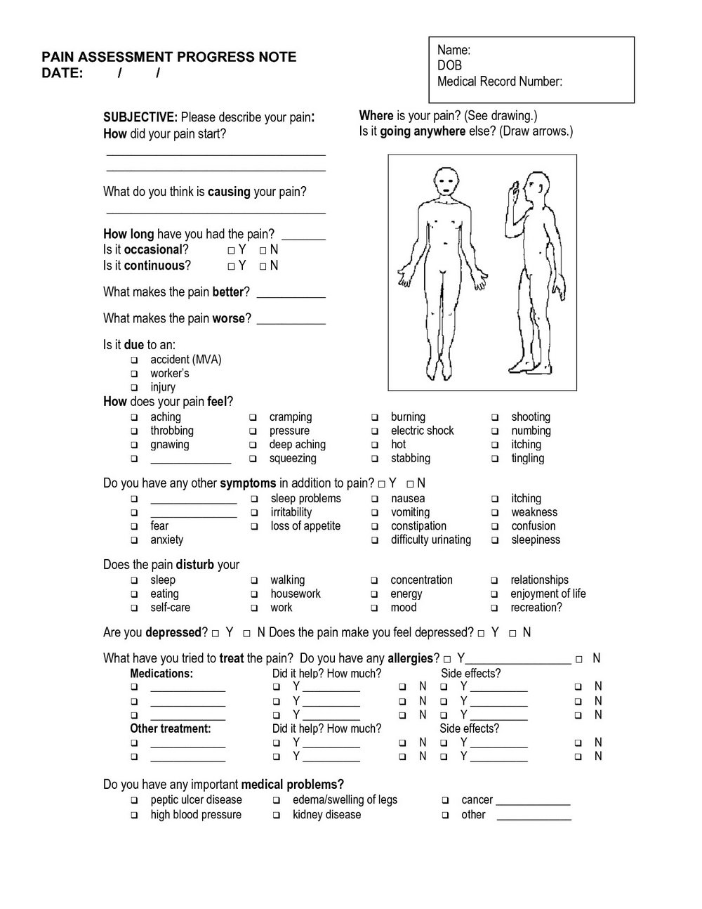 Soap Notes Template Massage Therapy