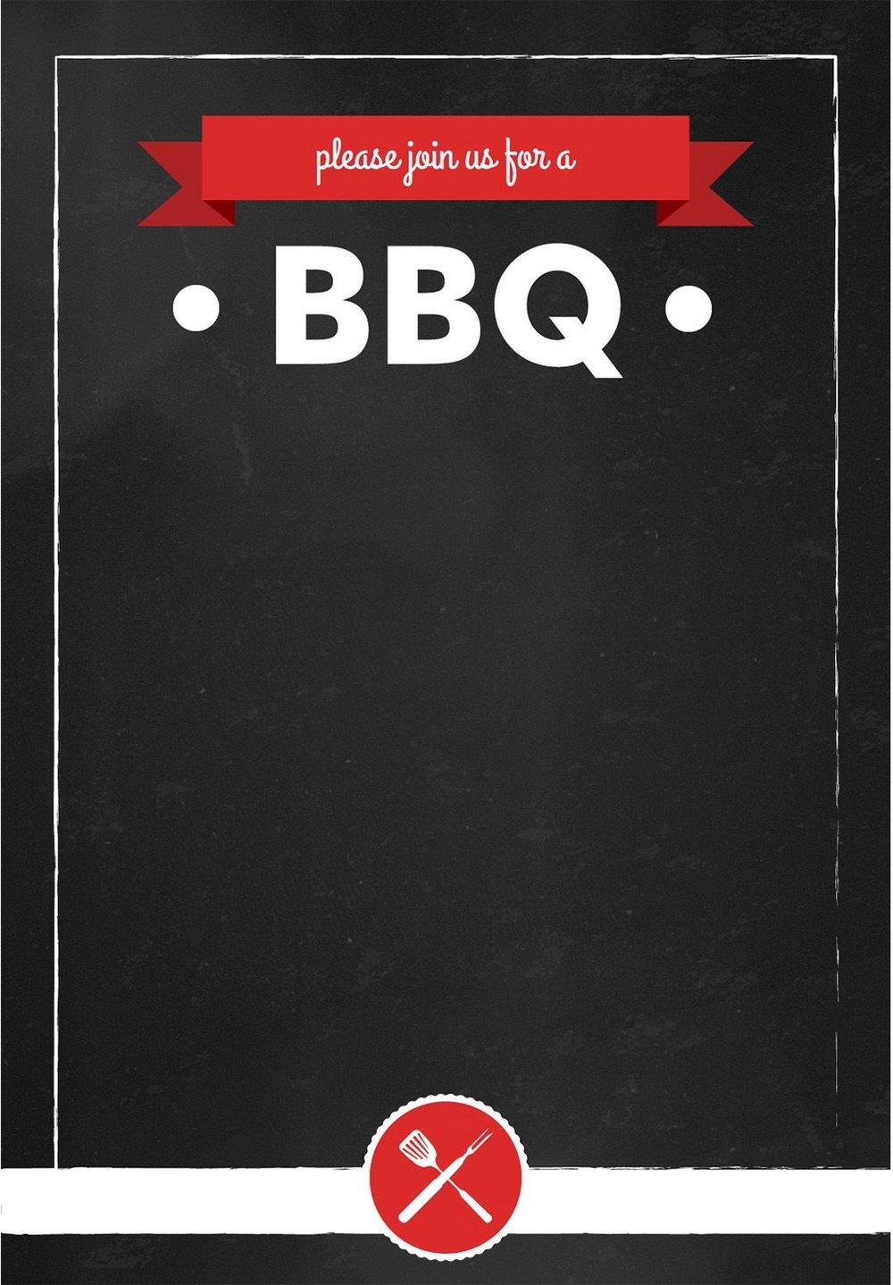 Summer Bbq Invitation Templates