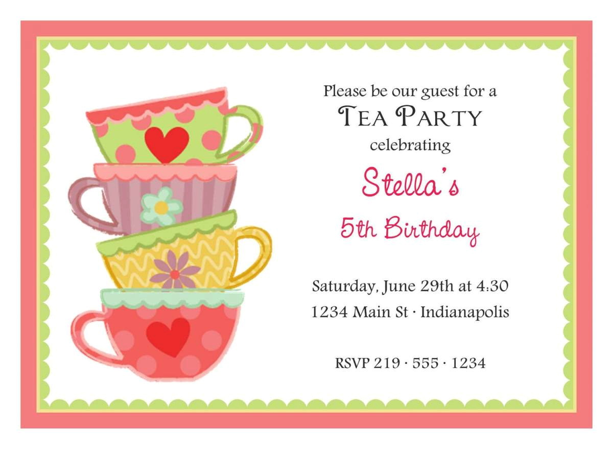 Tea Party Invitation Template