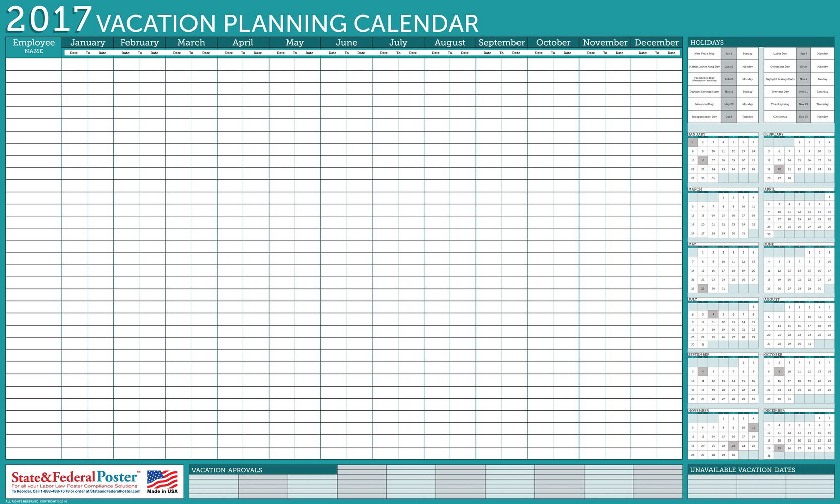 Vacation Calendar Template Excel