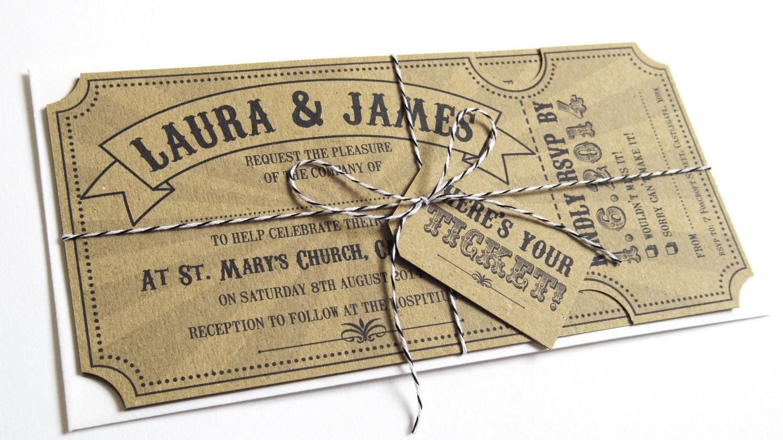 Vintage Ticket Stub Template