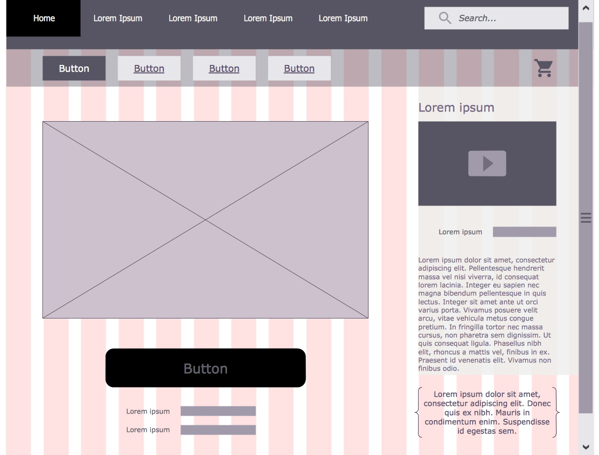 Website Wireframe Template Illustrator