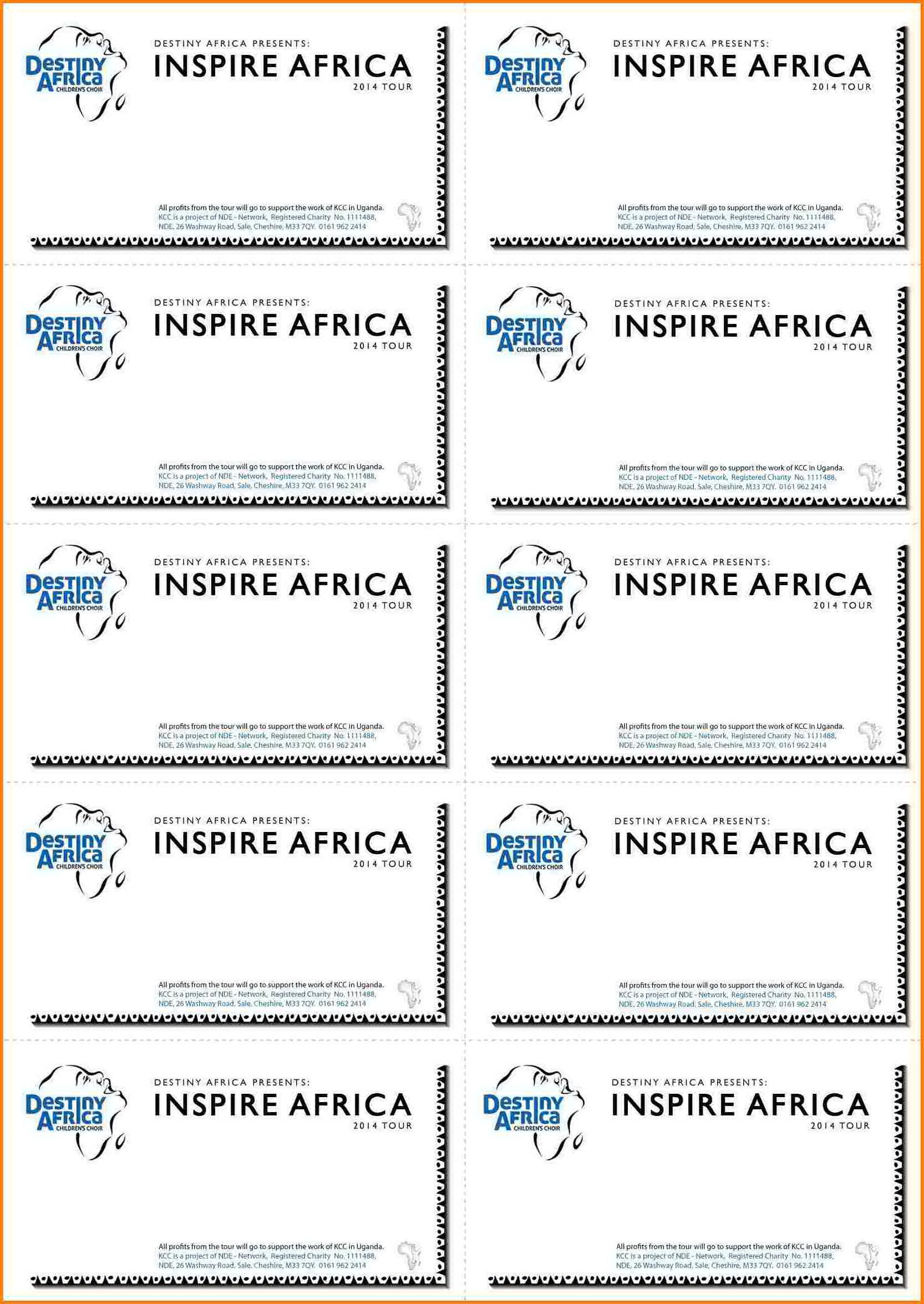 Word Document Raffle Ticket Template