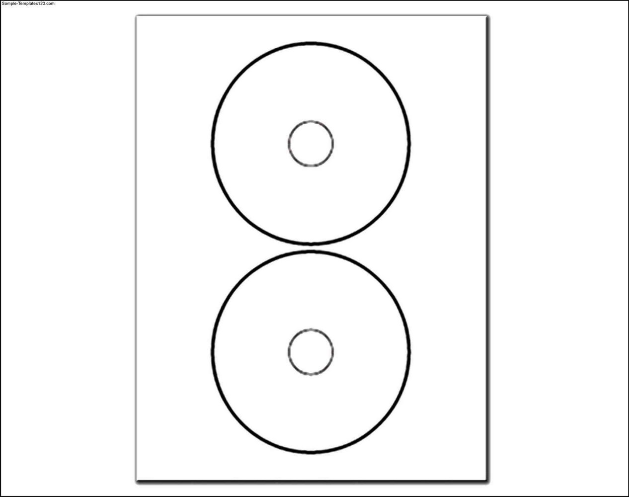 2 Circle Label Template