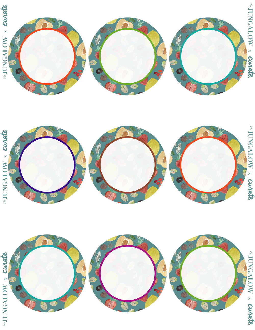 37mm Circle Label Template