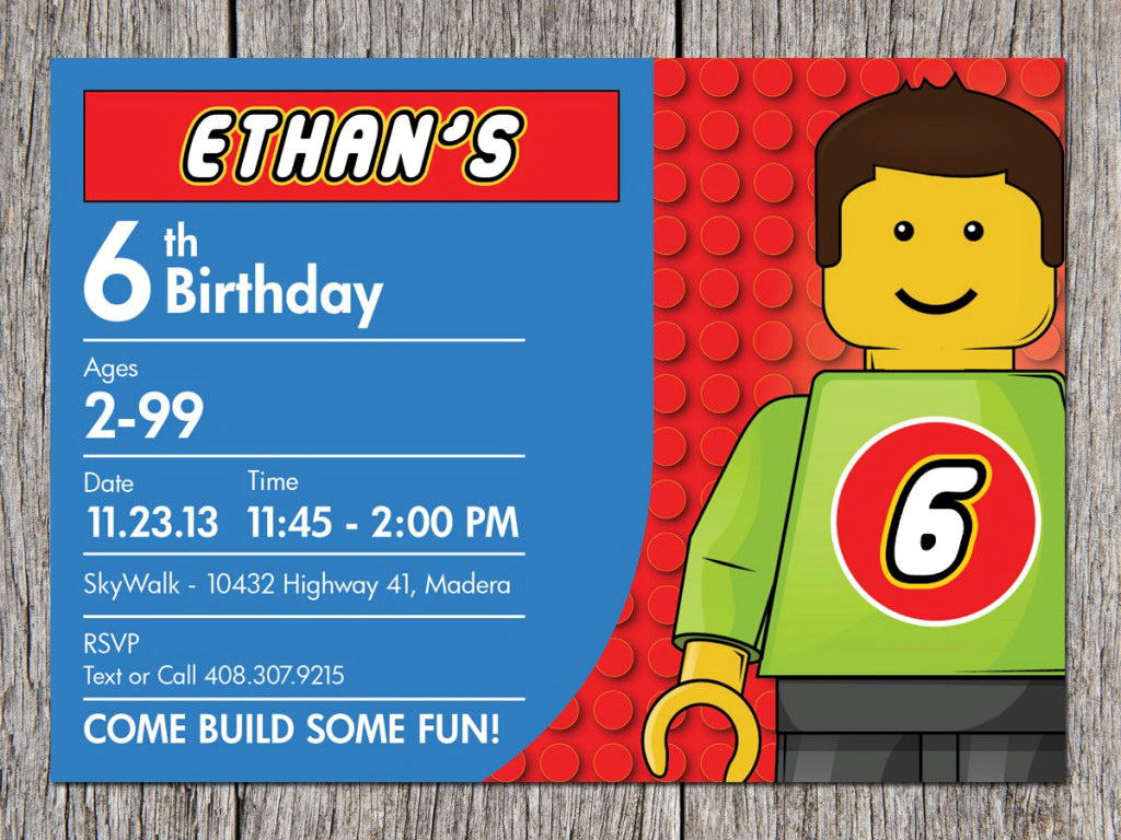 6th Birthday Party Invite Template