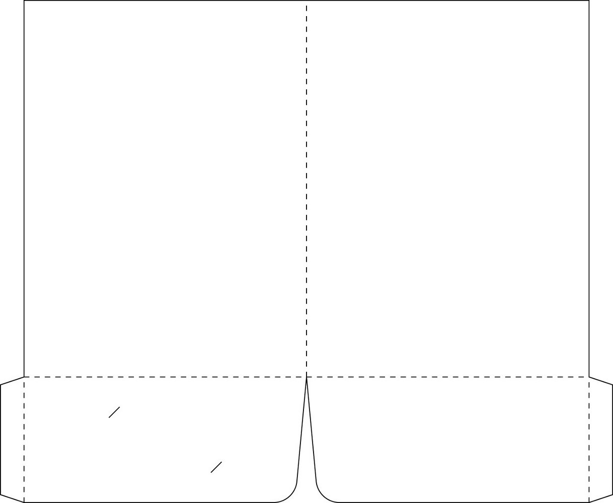 9x12 Presentation Folder Template
