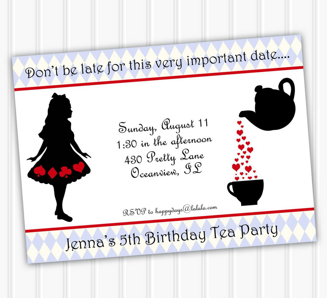 Alice In Wonderland Invitation Template Download