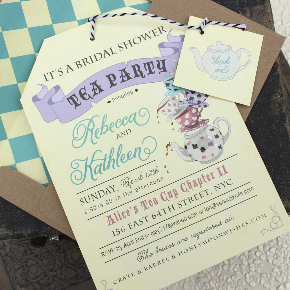 Alice In Wonderland Tea Party Invitation Template Free