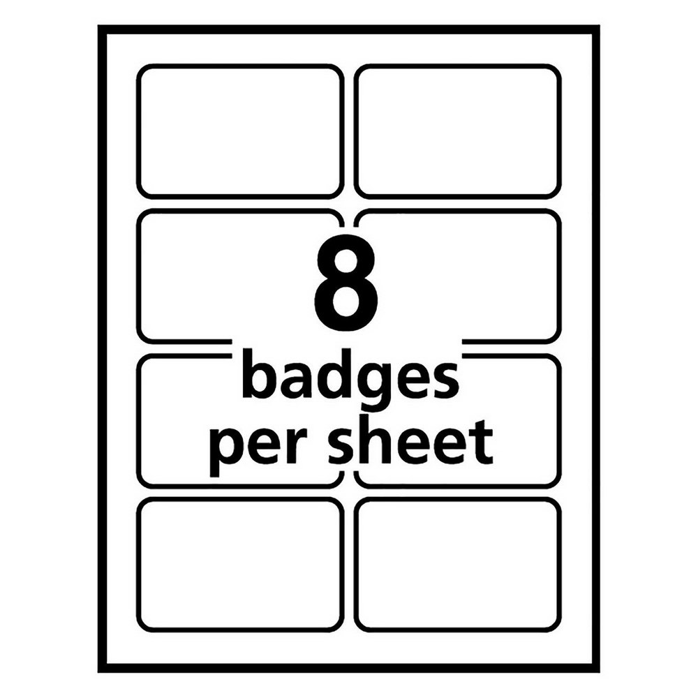 Avery Badge Template 5390