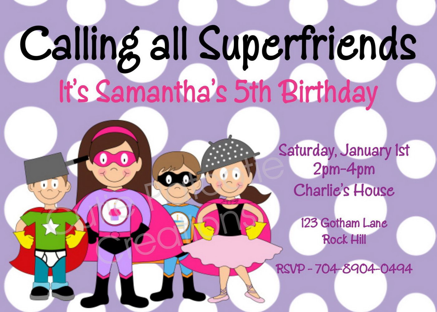 Baby Superhero Invitation Template