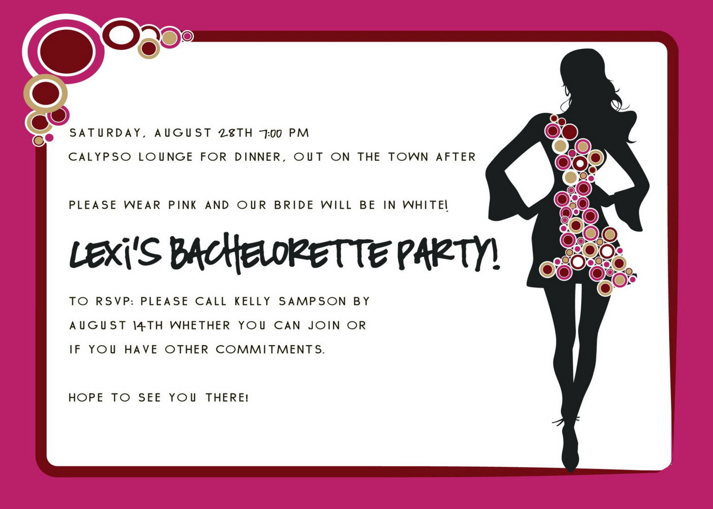 Bachelorette Party Invitation Templates