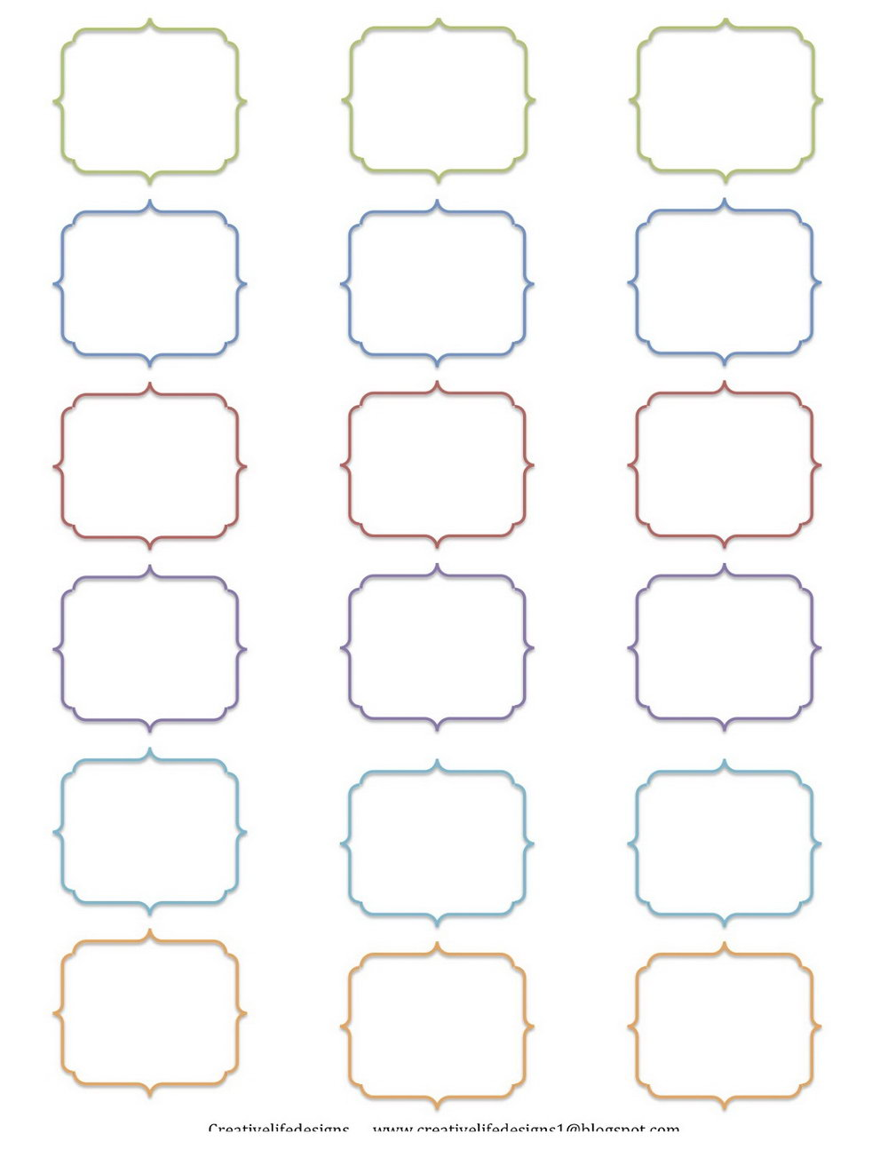 Blank Label Templates