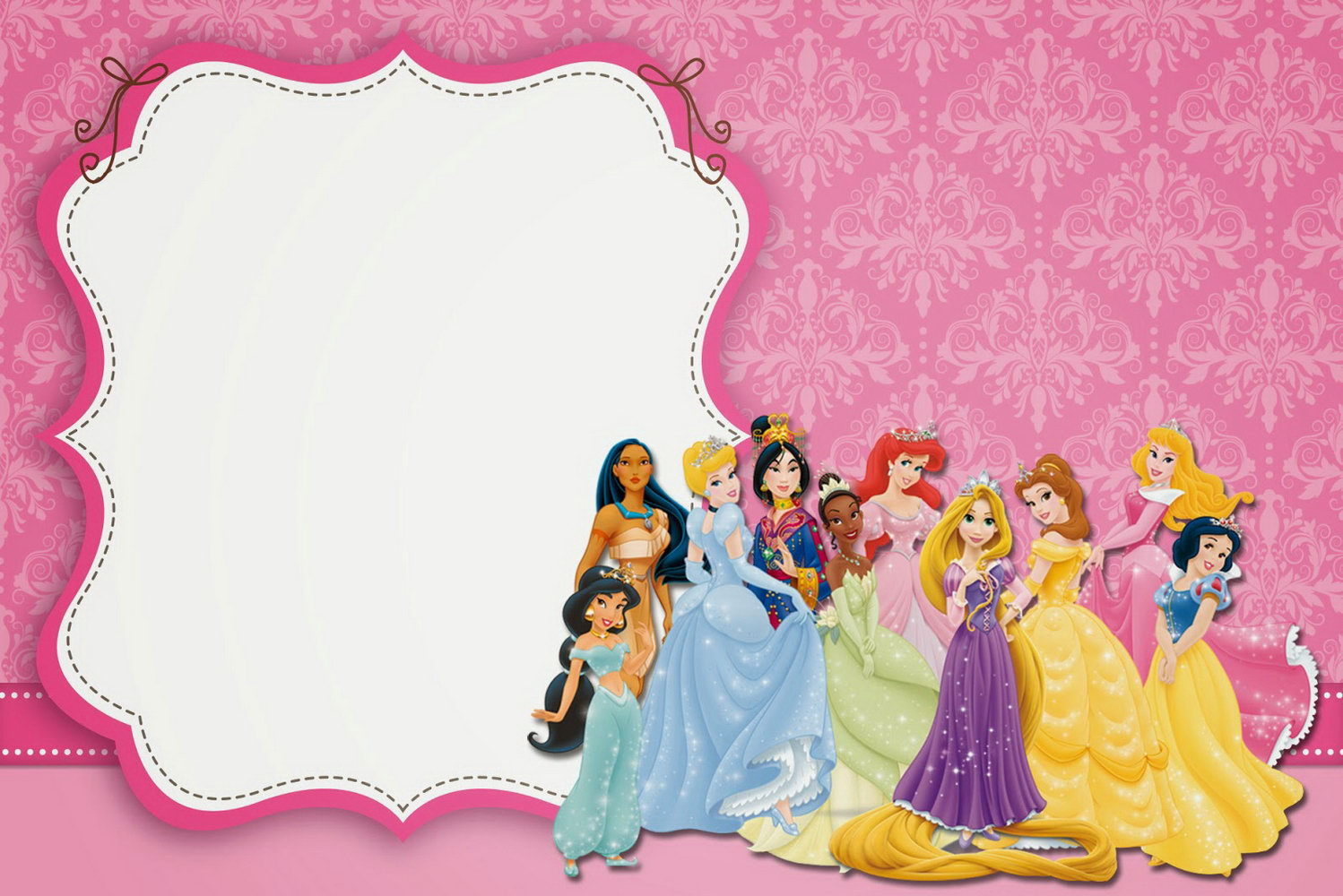 Blank Princess Invitation Template