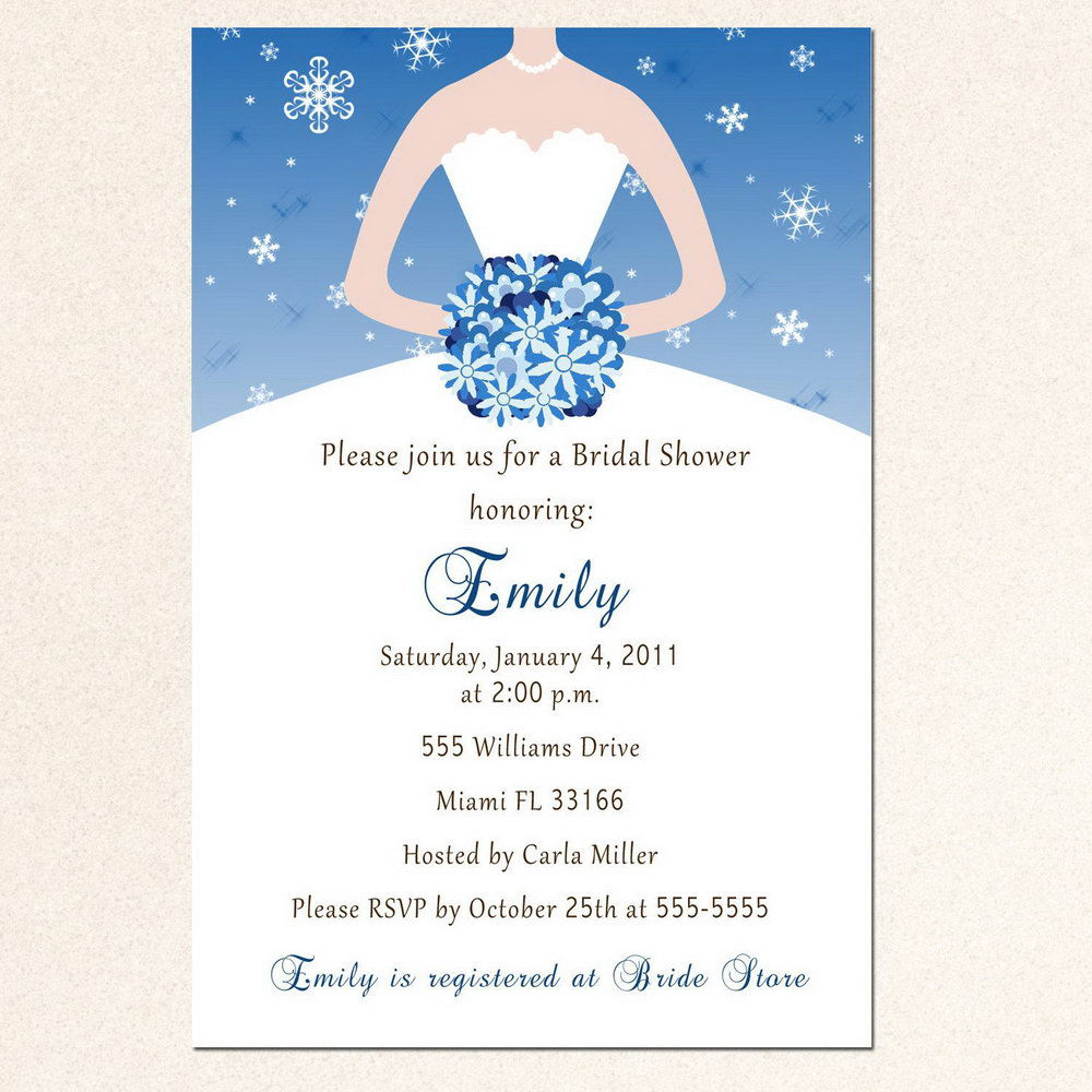 Bridal Shower Invite Template Word