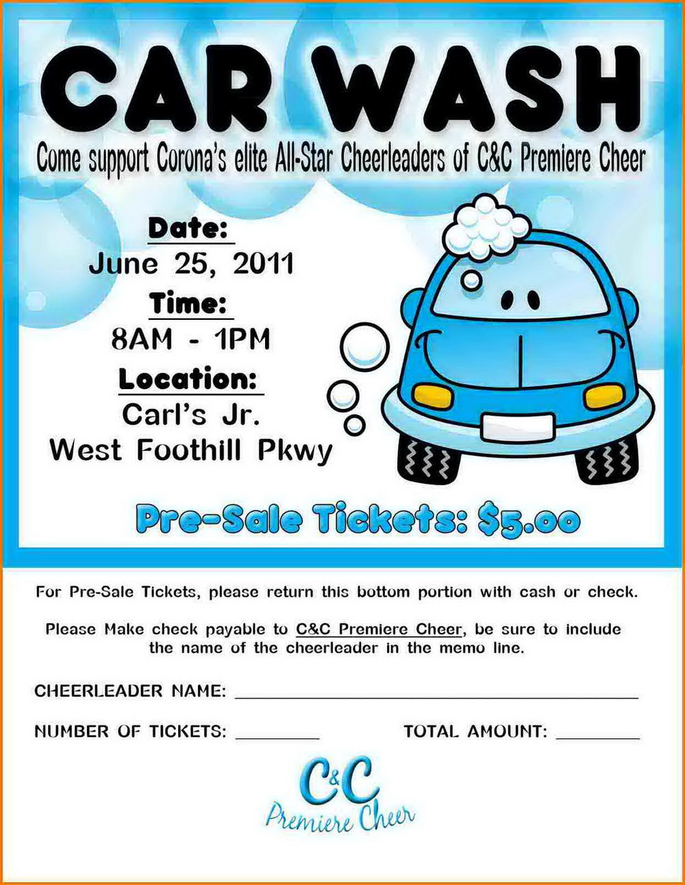 Car Wash Tickets Templates Free
