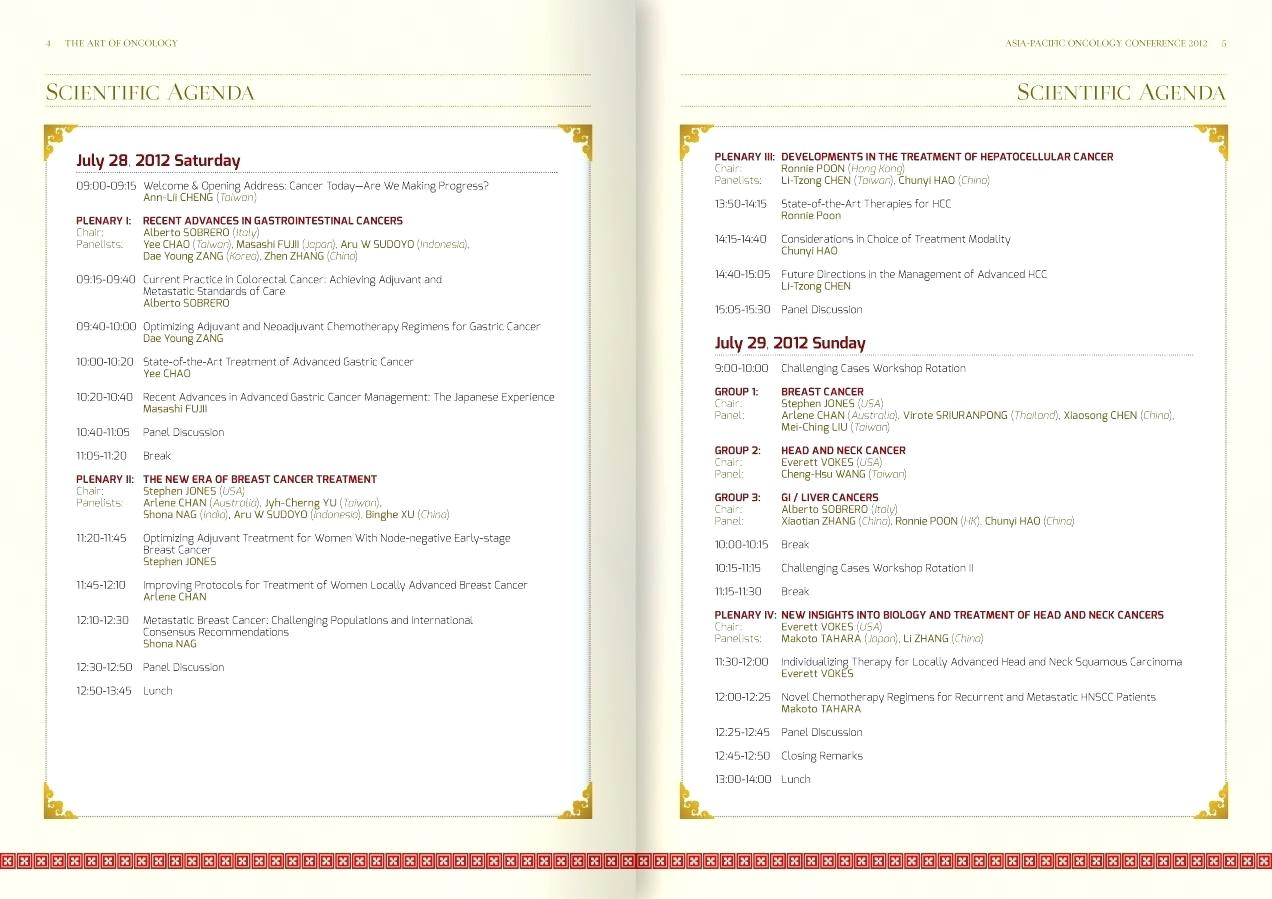 Conference Program Booklet Template Free