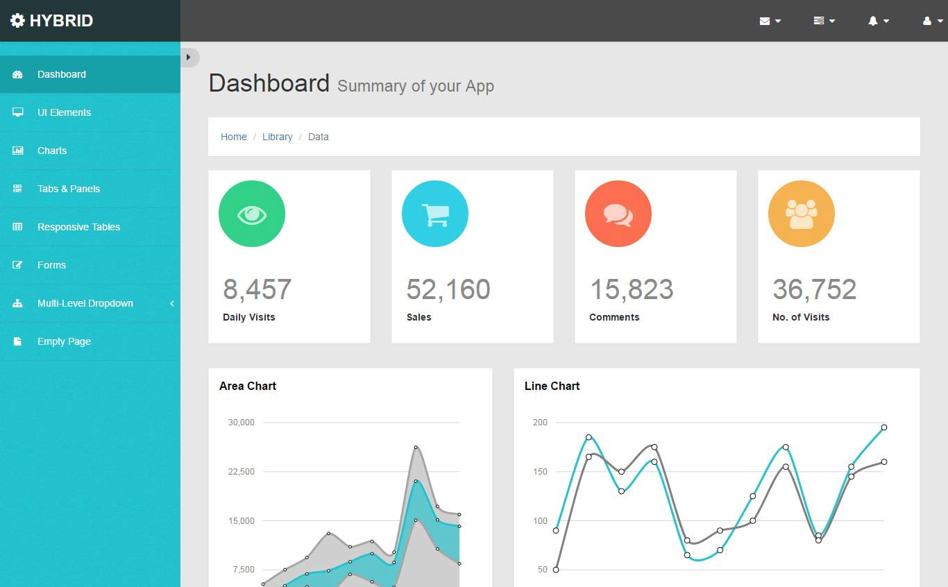 Dashboard Html5 Template Free