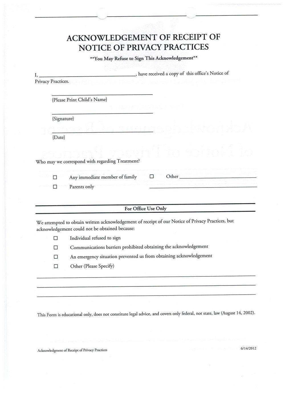 Dental Financial Agreement Template