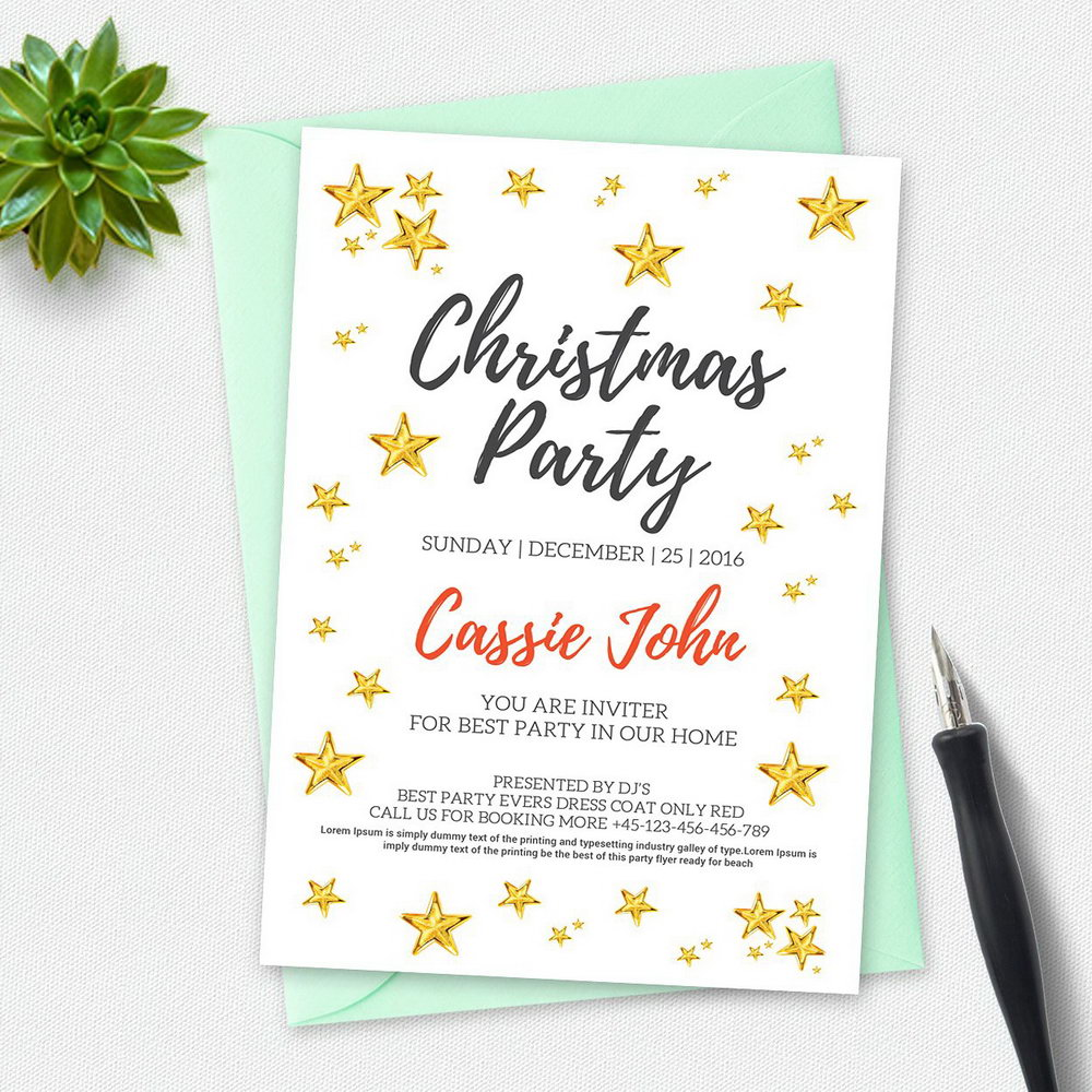 Dinner Party Invitation Template Free