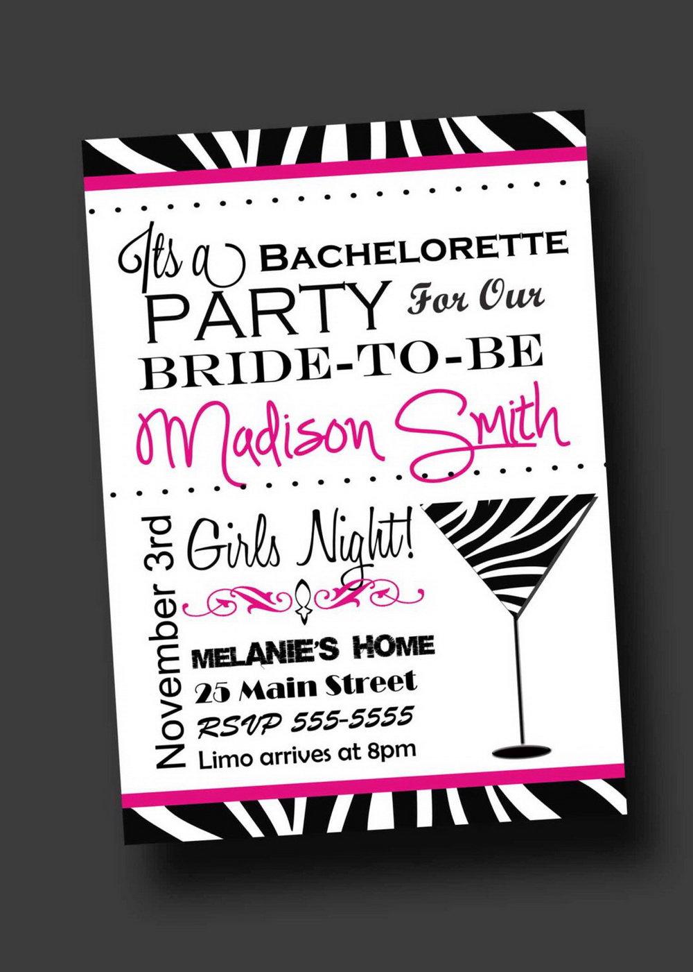 Editable Bachelorette Invitation Template