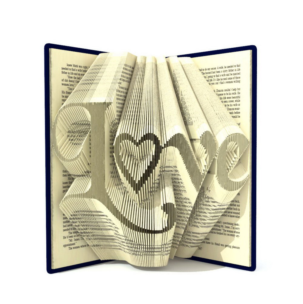 Folded Book Art Templates