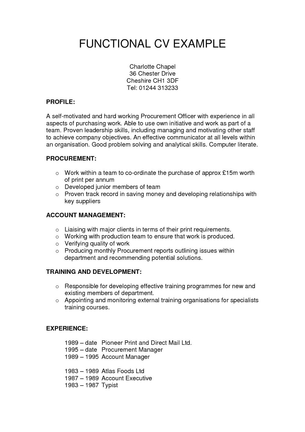 Free Functional Resume Template Word - Resumes #MjY1 ...