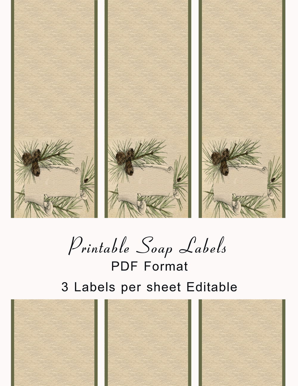 Free Handmade Soap Label Template