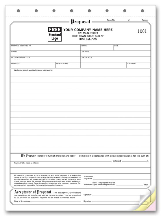 Free Hvac Bid Proposal Template