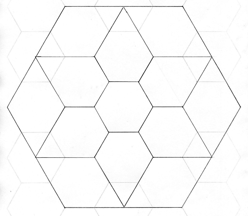 graphic regarding Printable Hexagon Template identified as No cost Printable Hexagon Quilt Template - Templates #MjI3Mjc