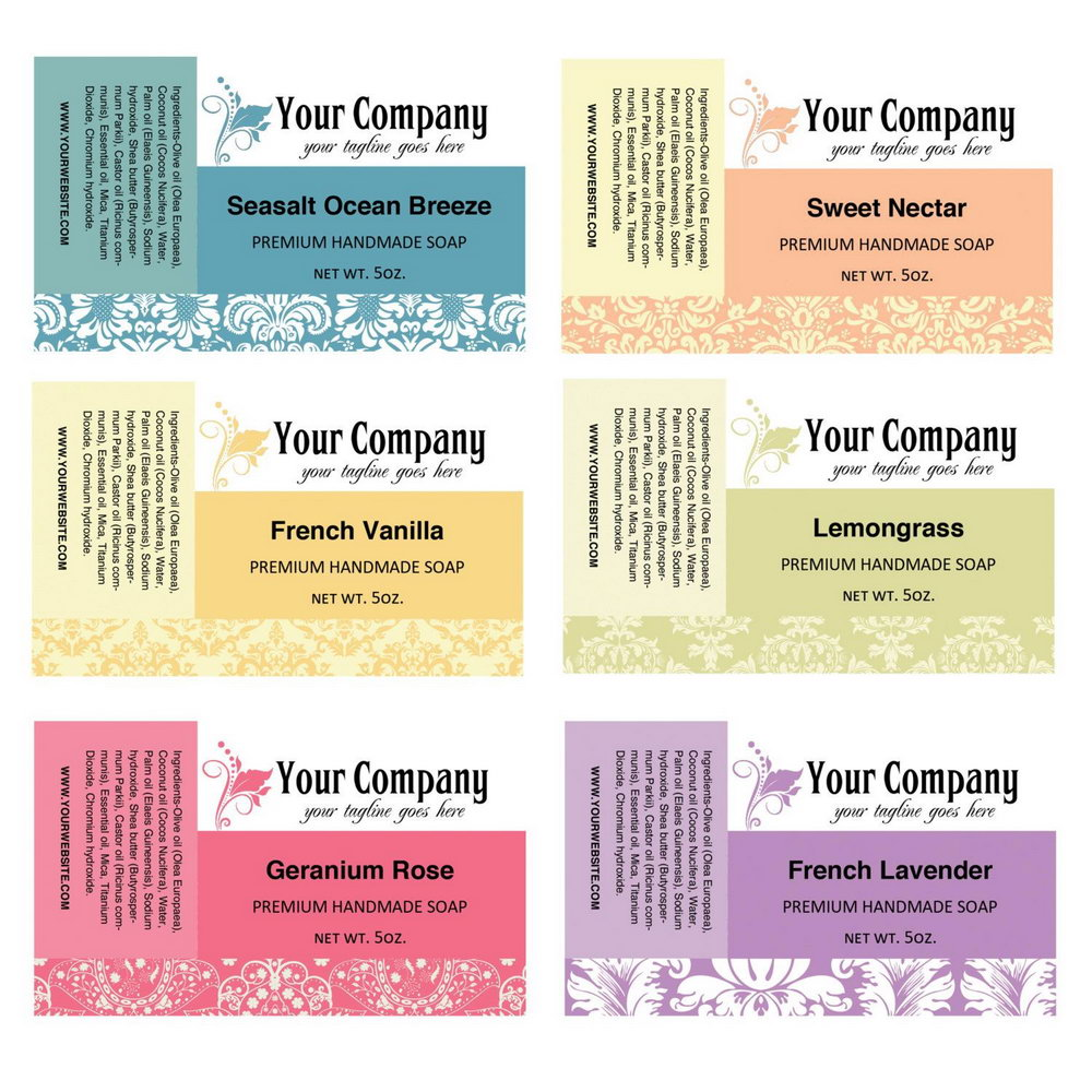 Free Soap Label Template Download