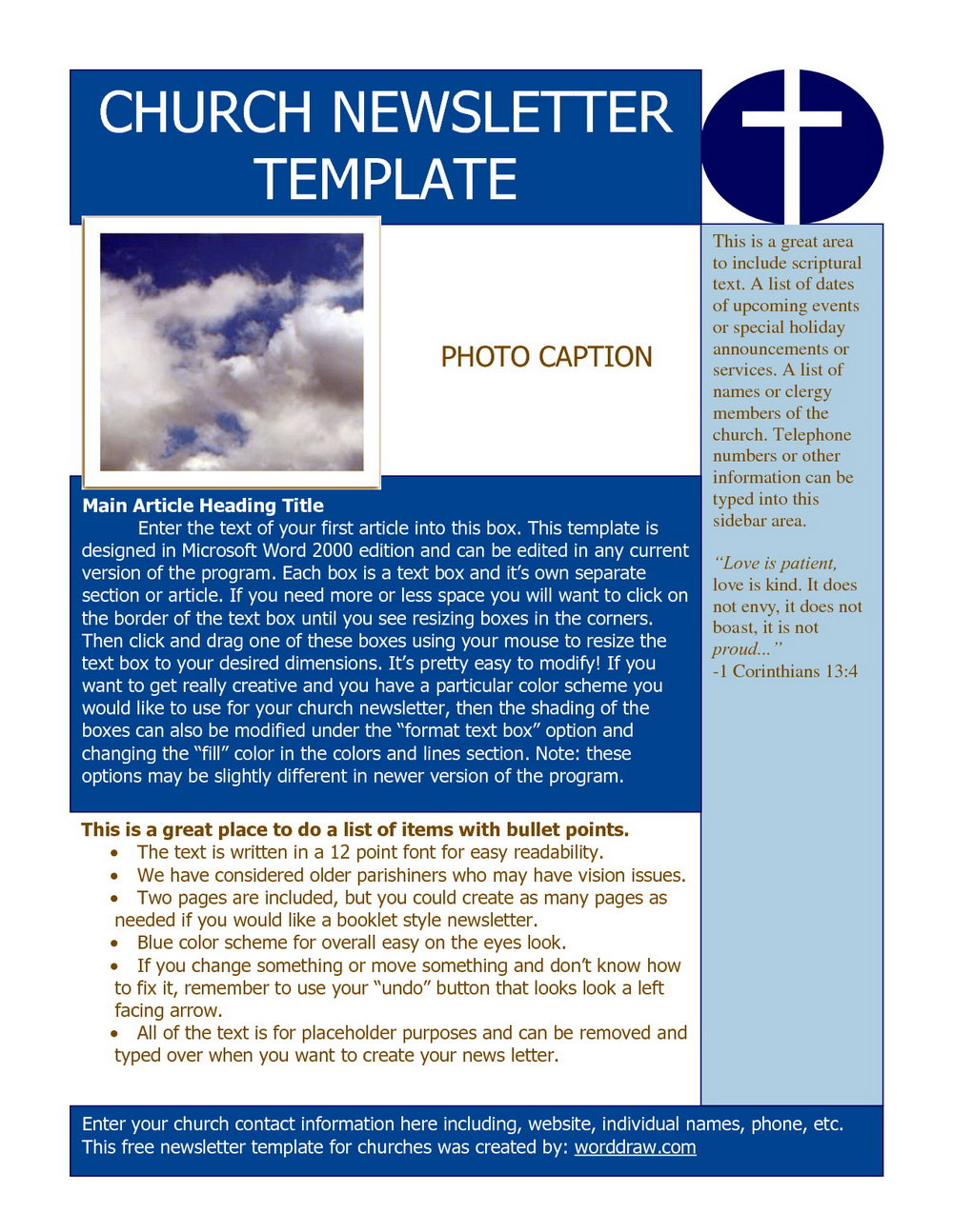 Free Word Newsletter Templates