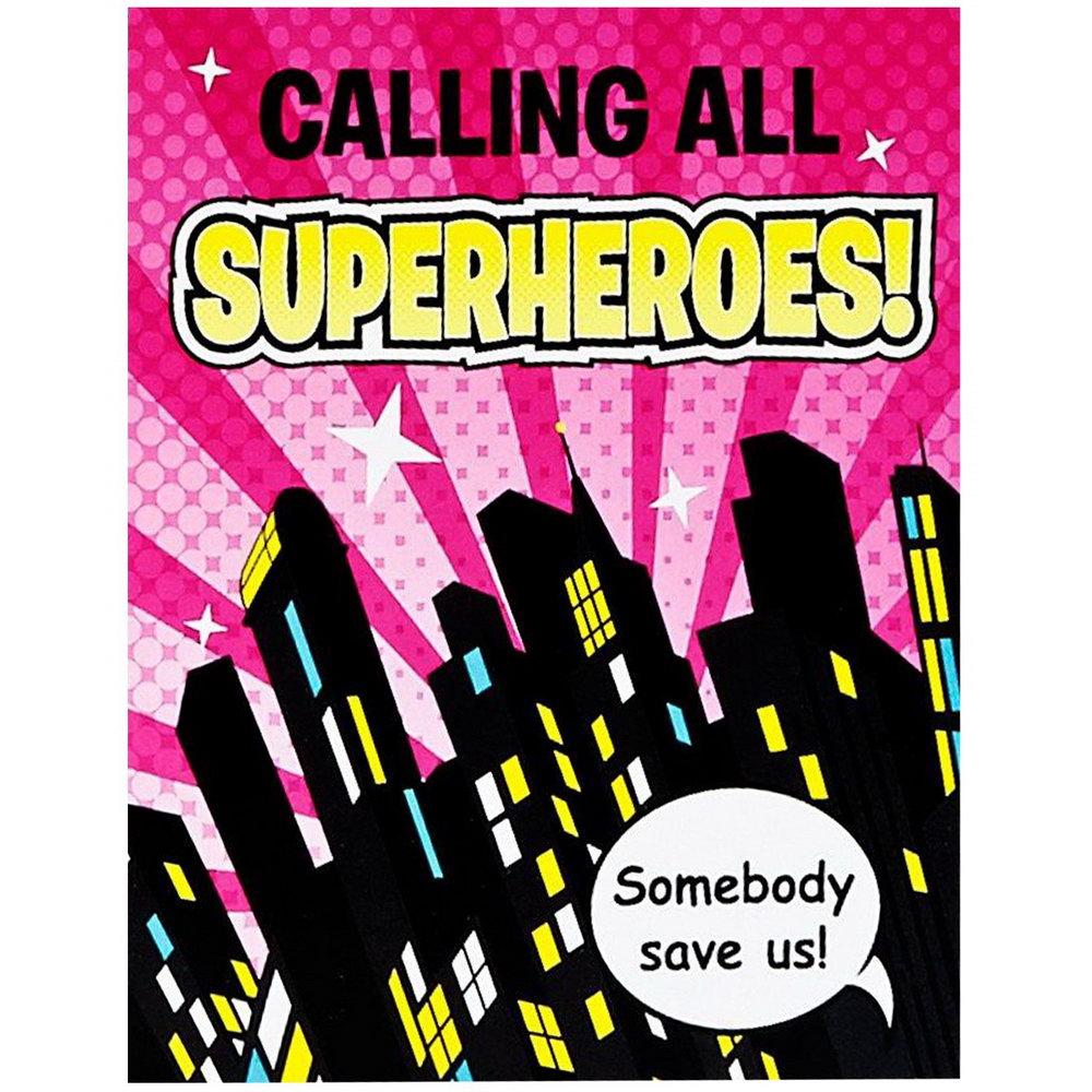 Girl Superhero Invitation Template
