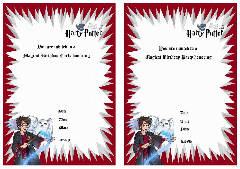 Harry Potter Wedding Invitation Template Free