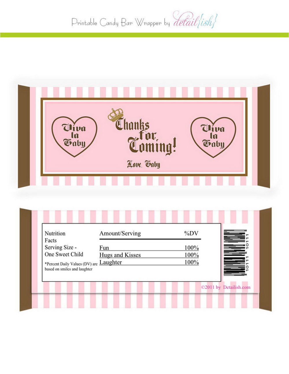 Hershey Candy Bar Birthday Wrapper Template