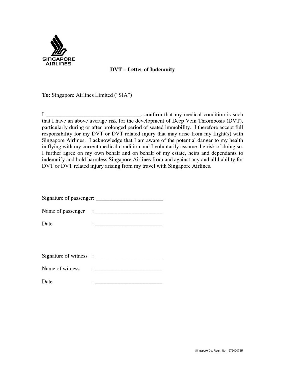 Hold Harmless Template Document