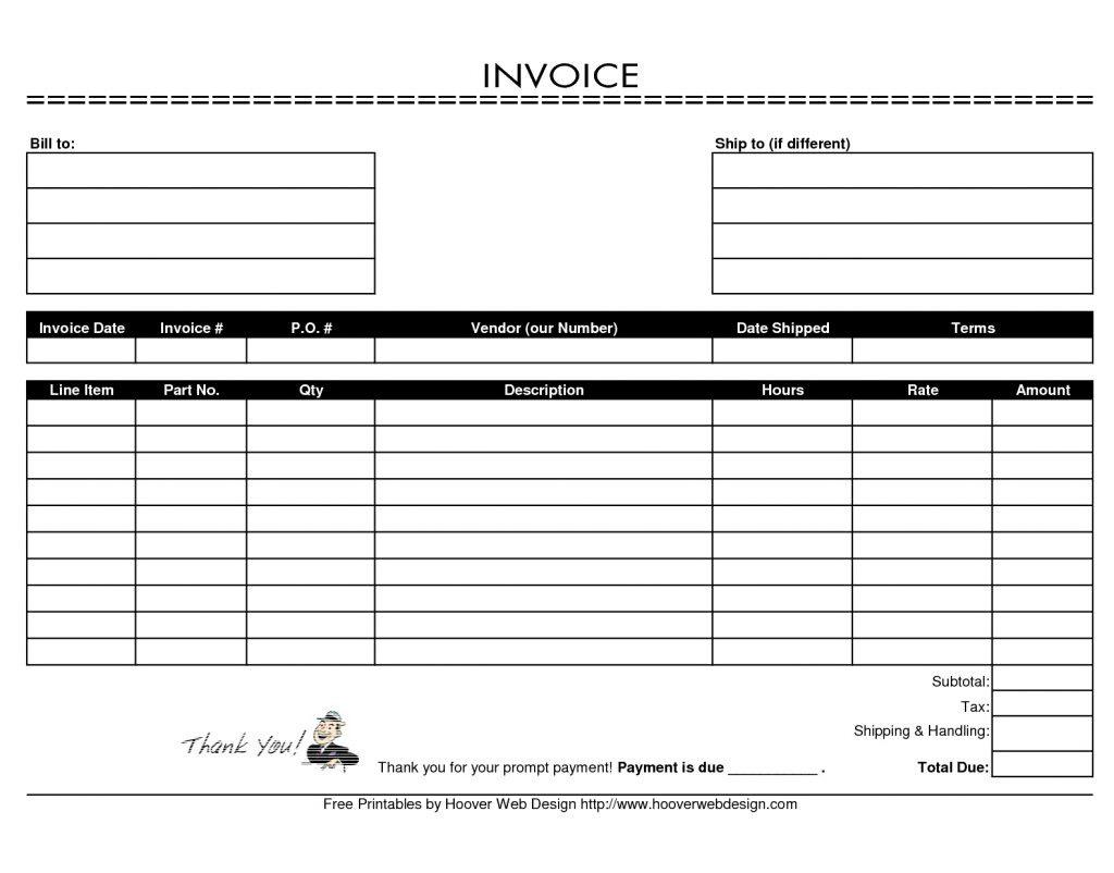 Hvac Service Order Invoice Template