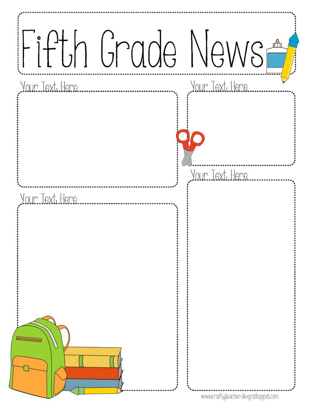 Kindergarten Classroom Newsletter Templates Free