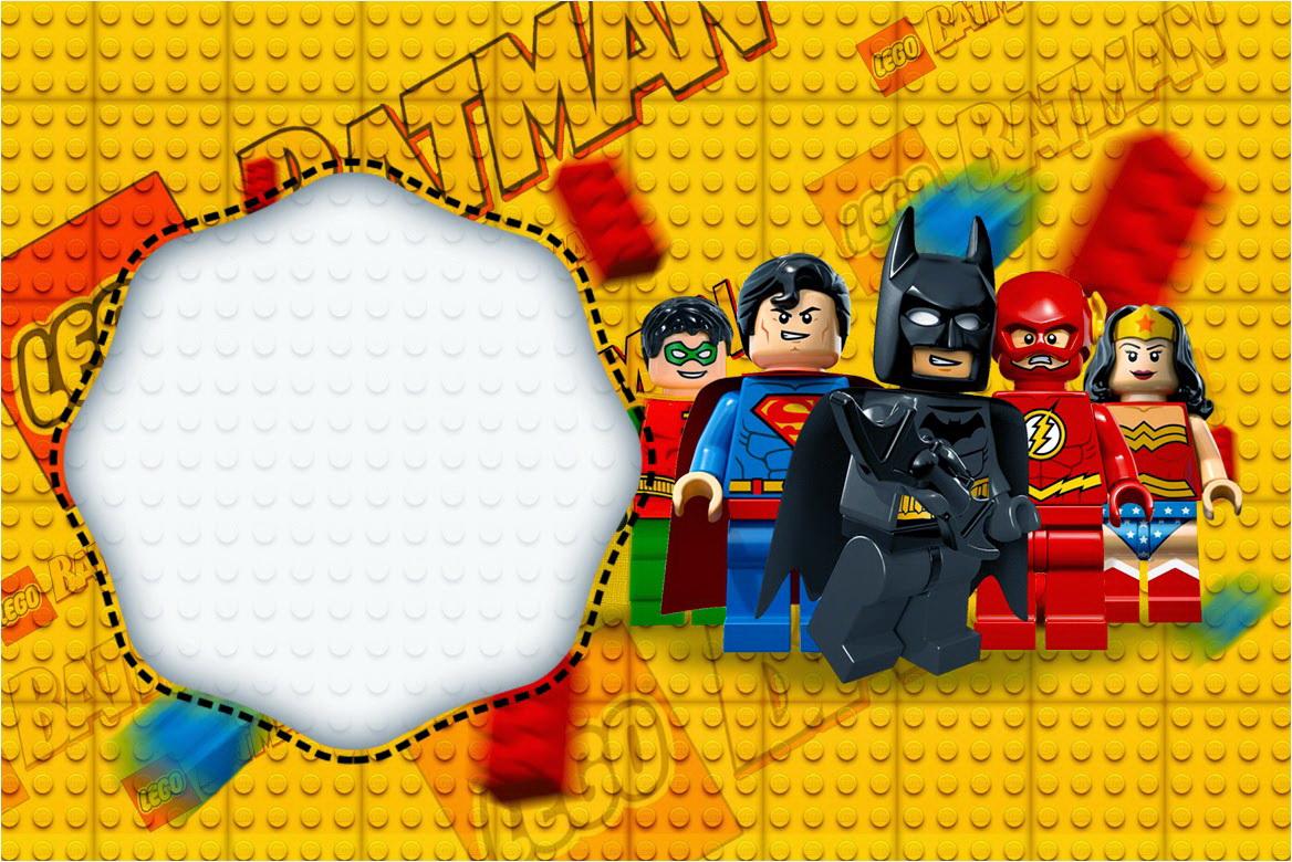 Lego Superhero Invitation Template