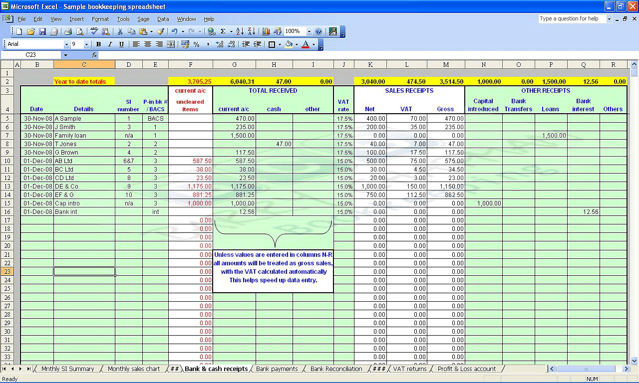 Microsoft Excel Spreadsheet Templates Free
