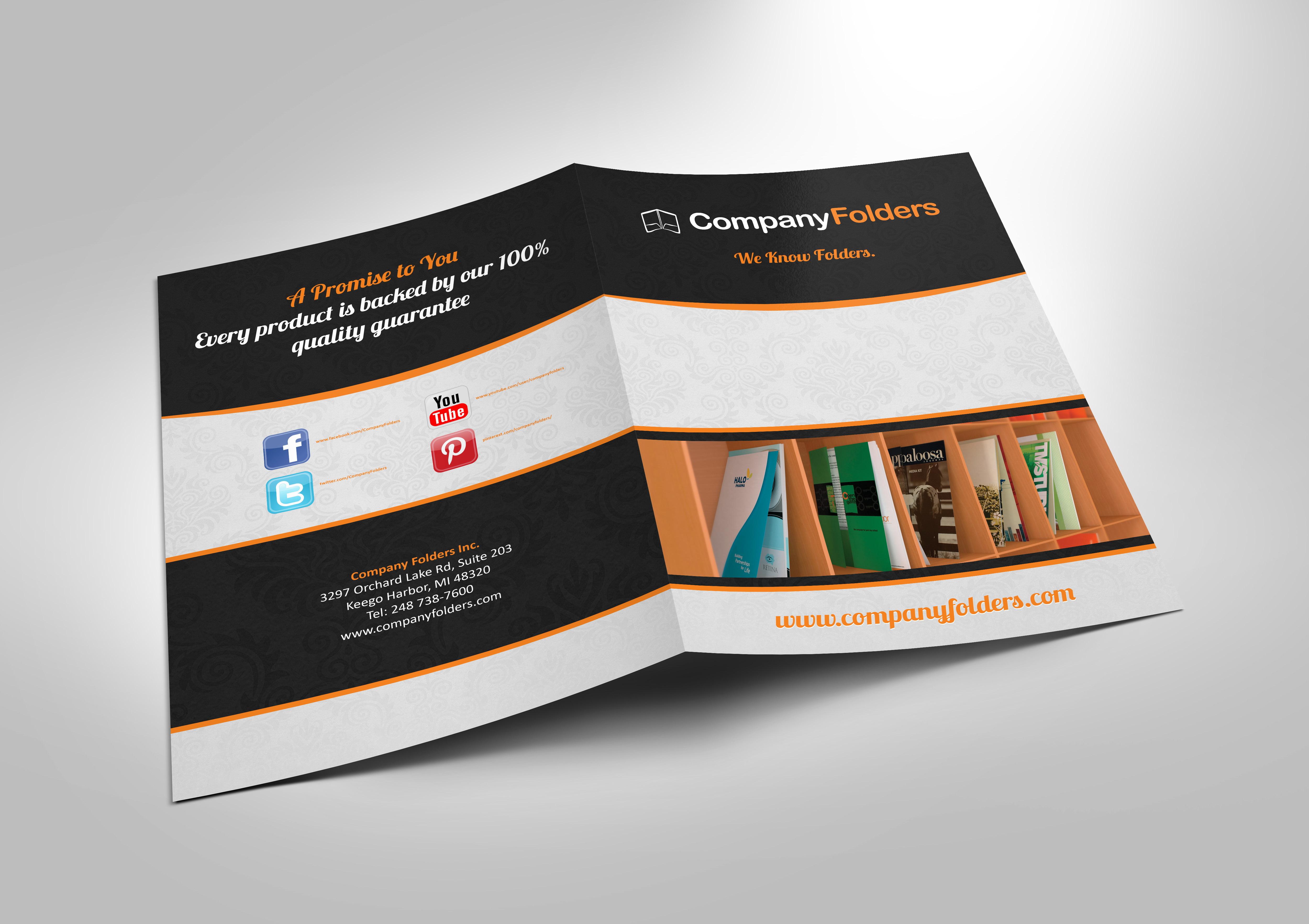 Presentation Folder Indesign Template