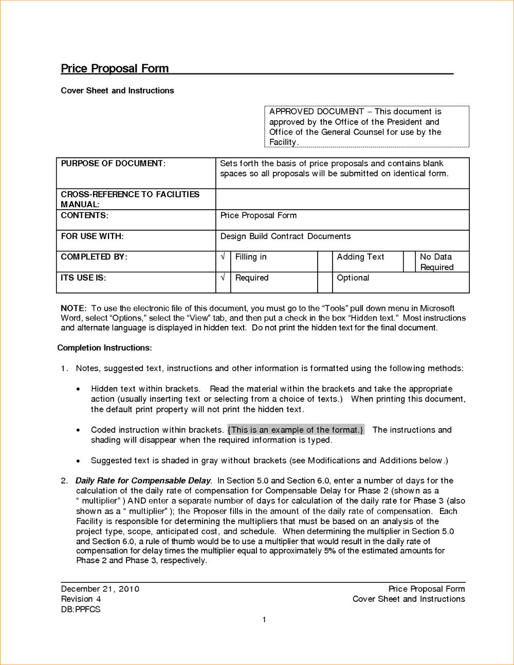 Pricing Agreement Form Templates 123983 Resume Examples