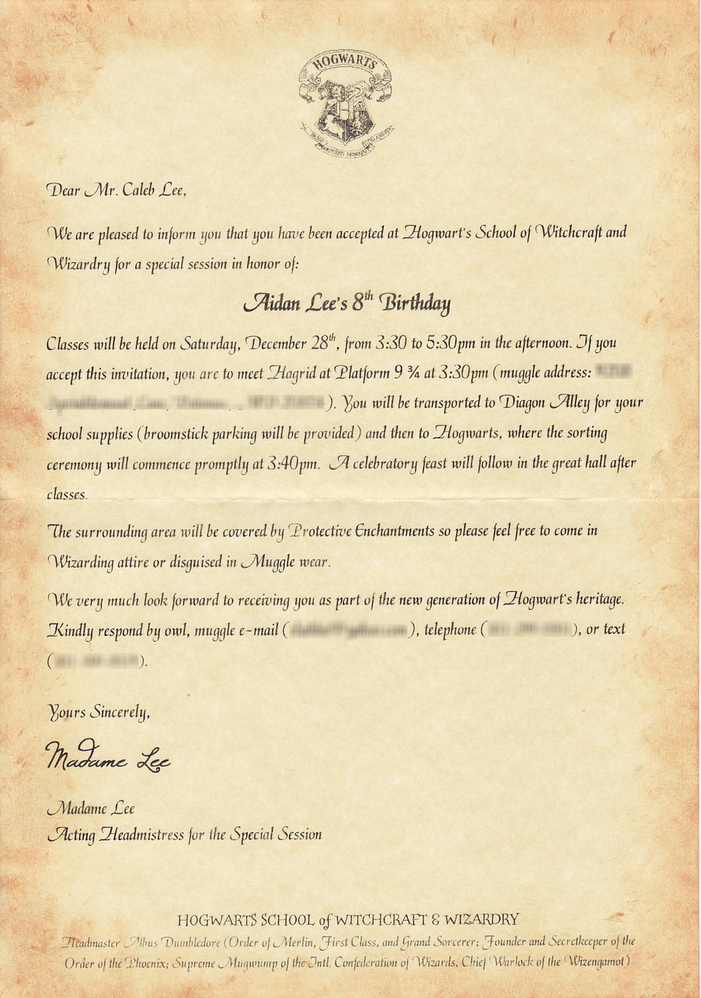 picture relating to Harry Potter Printable Invitation Templates known as Harry Potter Invitation In the direction of Hogwarts Template - Templates