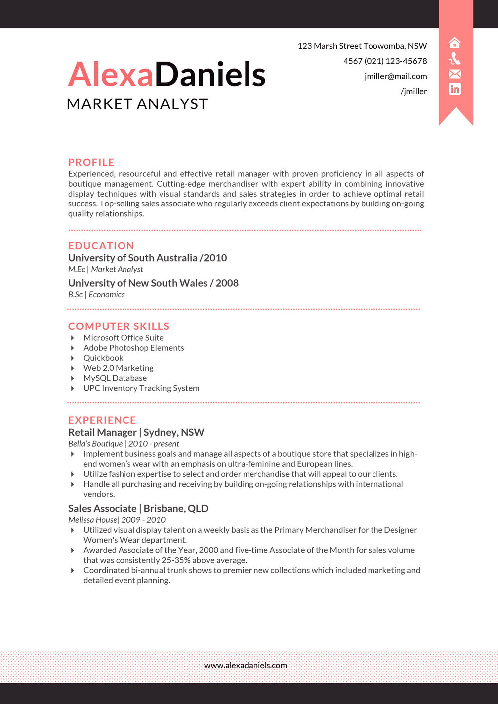 Professional Resume Template Word Download
