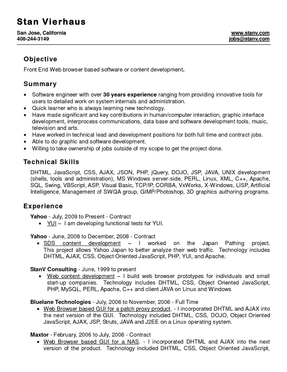 Professional Resume Template Word Free Download - Templates ...
