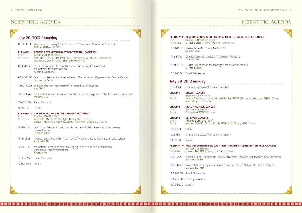 Program Booklet Template Indesign