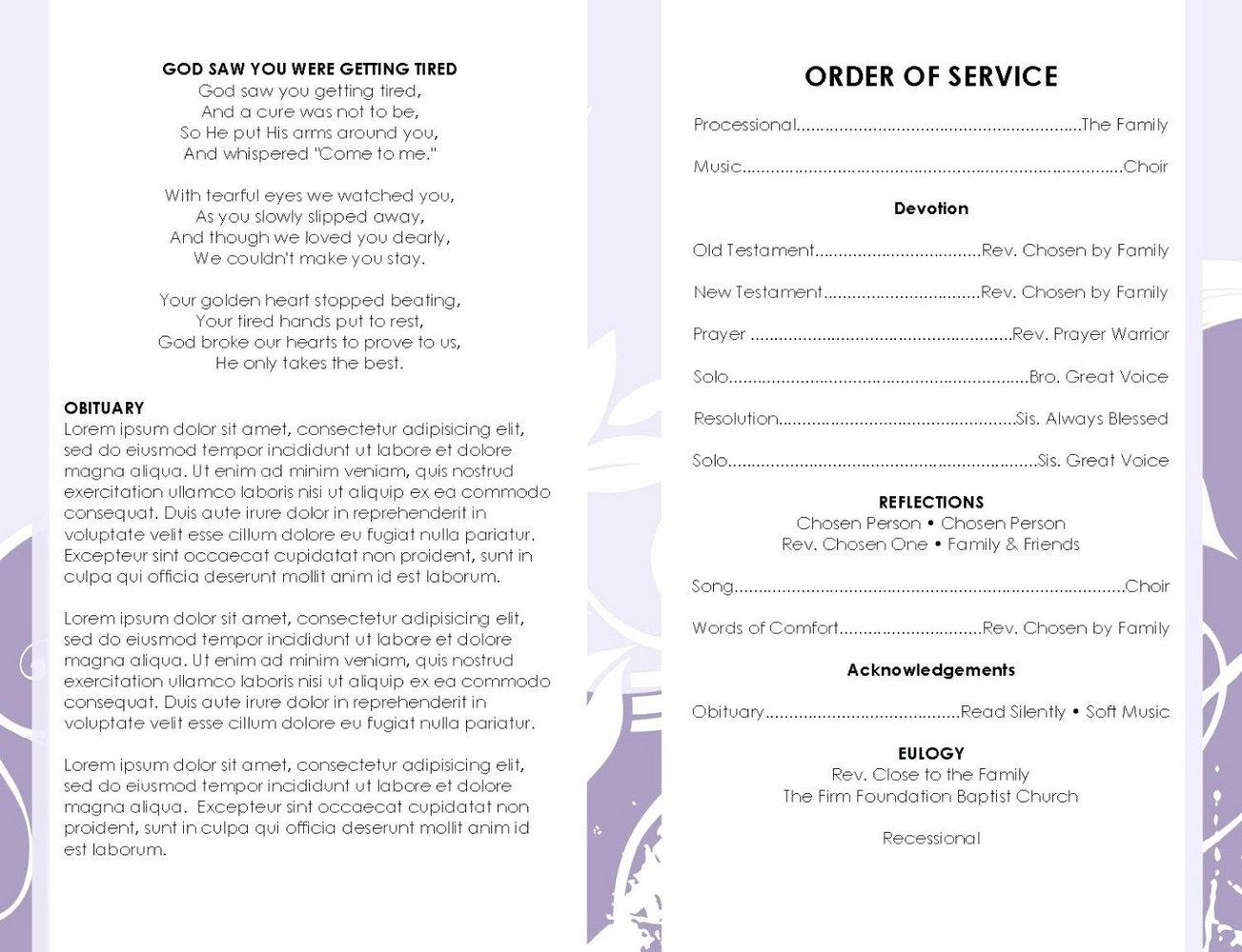 Program Booklet Template Microsoft Word