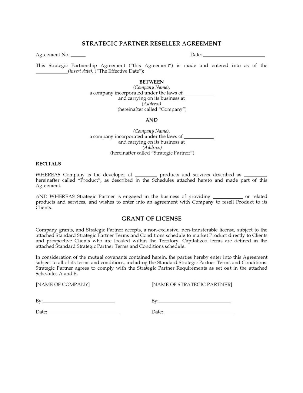 Reseller Agreement Template South Africa
